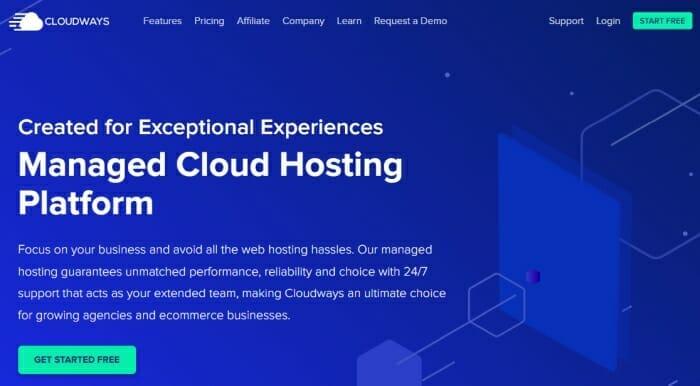 Cloudways managed hosting